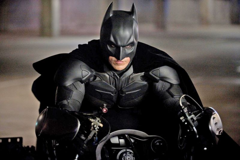 Christian Bale als Batman in de speelfilm 'The Dark Knight Rises' (2012) van regisseur Christopher Nolan.