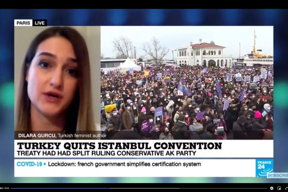 Dilâra Gürcü on France24 about Turkey leaving Istanbul Convention