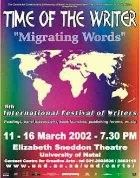 Poster Time of the Writer 2002