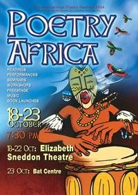 Affiche Poetry Africa 2004