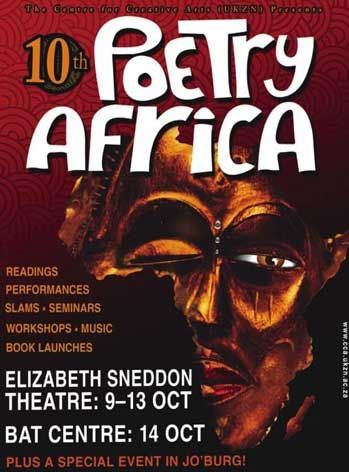 Affiche Poetry Africa Durban 2006